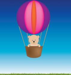 teddy balloon vector image vector image