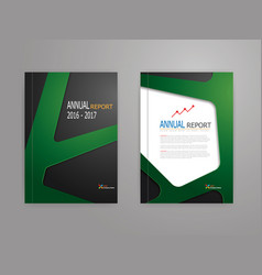 abstract green line on black background annual vector image