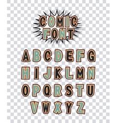 comic font alphabet pop art vector image vector image