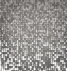 Created white and grey dot abstract background vector image