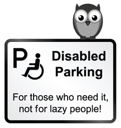 Disabled Parking vector image vector image
