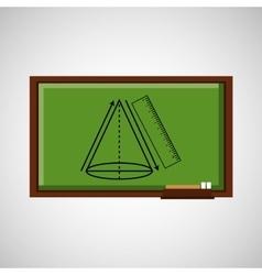 education concept blackboard with geometric figure vector image