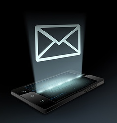 Envelope icon on the screen vector