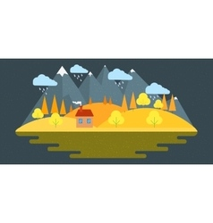Nature autumn landscape in vector image vector image