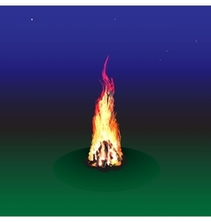 red fire flame frame vector image