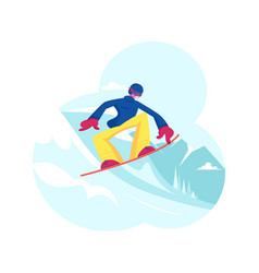 Adult sportsman dressed in winter clothes vector