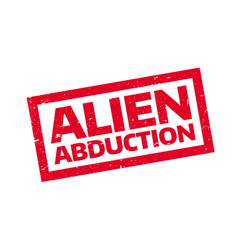 Alien abduction rubber stamp vector