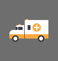 ambulance car emergency vehicle icon vector image