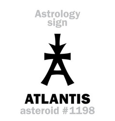 Astrology asteroid atlantis vector
