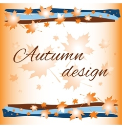 Autumn card background vector
