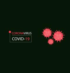 Banner with viral cells coronavirus vector