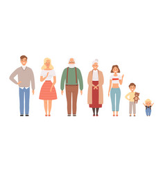 big family portrait father mother daughter vector image