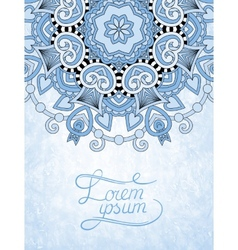 Blue colour flower design on grunge background vector