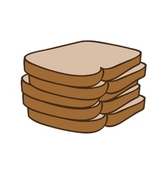 Bread icon image vector