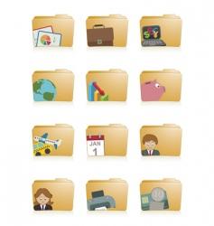 business folders vector image