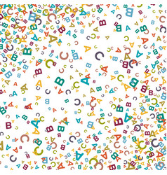 colorful background made from alphabet symbols vector image