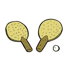 comic cartoon table tennis bats vector image