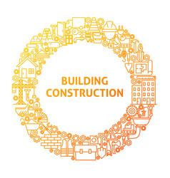 Construction line icon circle concept vector