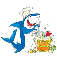 Cook shark vector