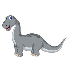 Cute dinosaur cartoon looking at camera vector