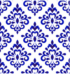 Damask pattern design vector