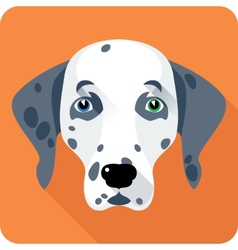 dog Dalmatian icon flat design vector image