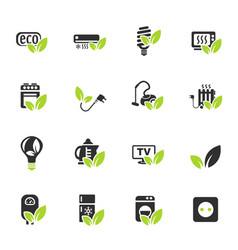 Eco icon set vector