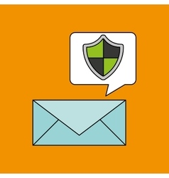 email security protection shield design vector image