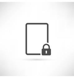 empty lock icon vector image