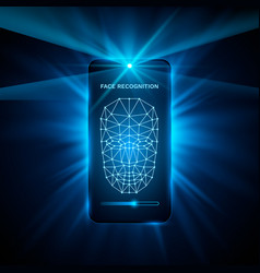 face recognition phone cover color design modern vector image