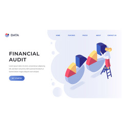 financial audit landing page vector image