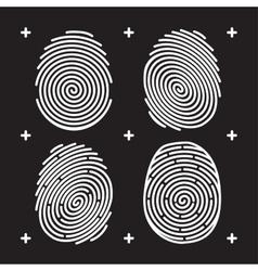 Fingerprint icon set vector