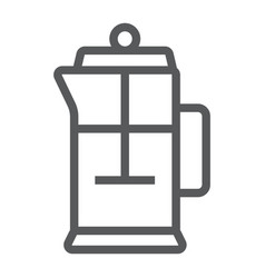 french press line icon kitchen and cooking vector image