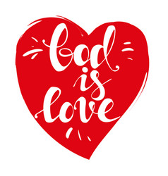 God is love calligraphic text symbol of vector