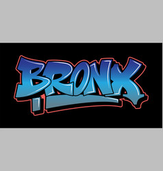 graffiti style lettering text design vector image