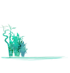 green organic bamboo plant horizontal background vector image
