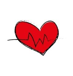Heart medical healthcare vector