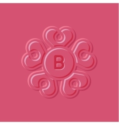 Hearts pink surround style vector