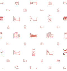 Hotel icons pattern seamless white background vector