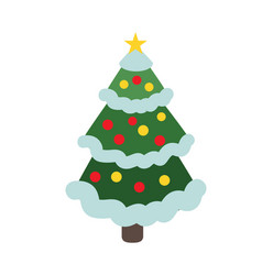 isolated cristmas tree vector image