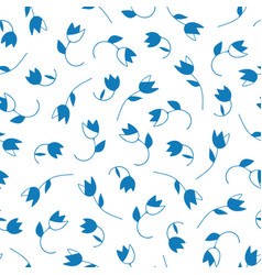 lovely abstract floral seamless pattern vector image