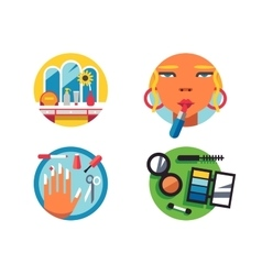Making make-up icons vector image