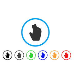 Manage hand rounded icon vector