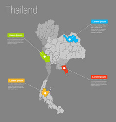 Map thailand i concept vector
