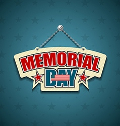 Memorial Day American signs vector