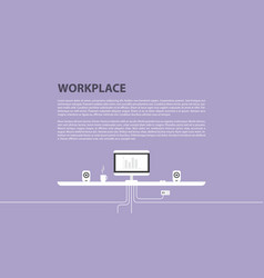 Modern design of workplace vector