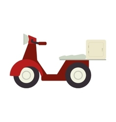 Motorcycle scooter delivery pizza vector