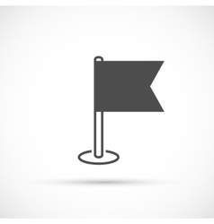 Navigation flag basic icon vector