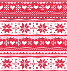 Nordic seamless knitted christmas pattern vector