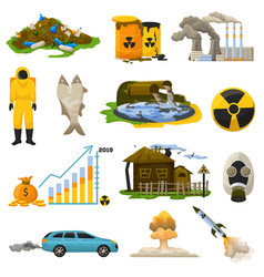 Nuclear pollution radioactive atomic energy vector